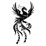 Стикери за кола на дракон, лепенка за автомобил на птица-феникс